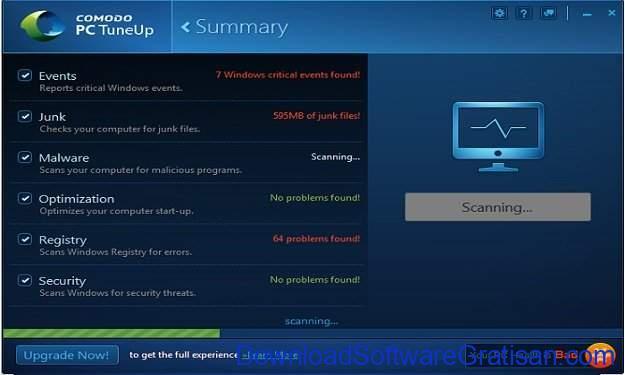 Aplikasi Pembersih Sampah PC Terbaik Comodo PC TuneUp