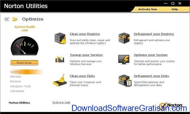 Aplikasi Pembersih Sampah PC Terbaik Norton Utilities