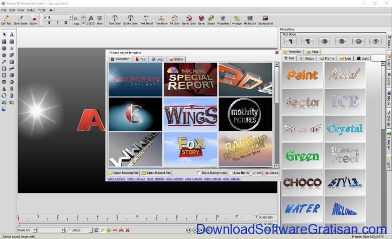 Aplikasi Pembuat Animasai PC Aurora 3D Animation Maker