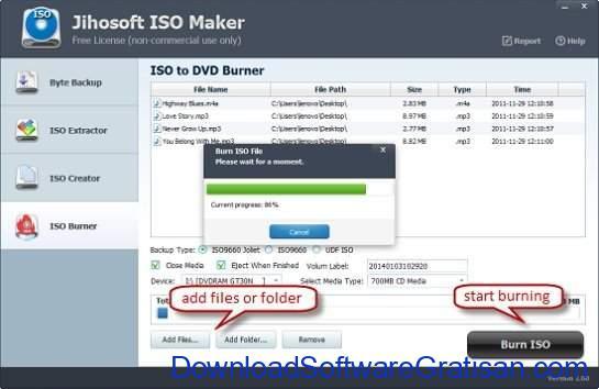 Aplikasi Pembuat ISO Gratis Terbaik Jihosoft ISO Maker Free