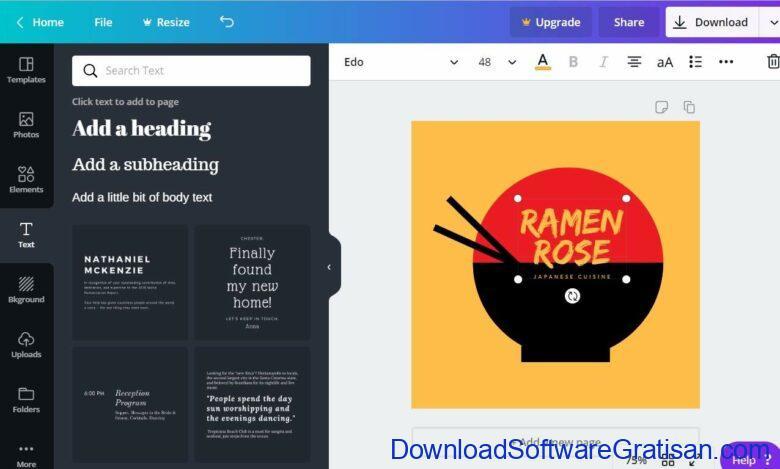 Aplikasi Pembuat Logo Keren Online & Offline Canva