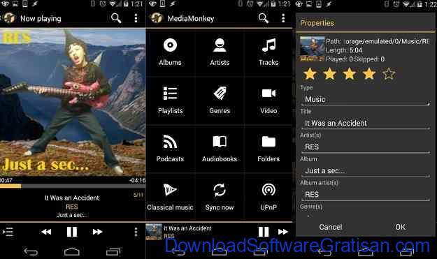Aplikasi Pemutar Musik Terbaik untuk Android MediaMonkey