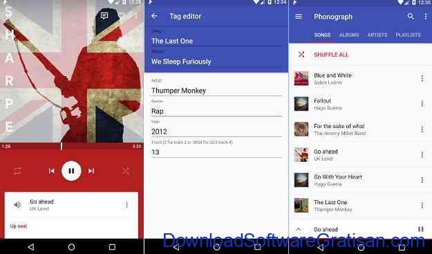 Aplikasi Pemutar Musik Terbaik untuk Android Phonograph