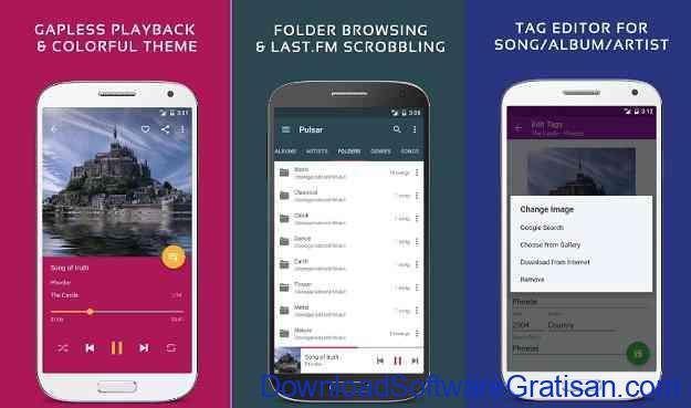Aplikasi Pemutar Musik Terbaik untuk Android Pulsar
