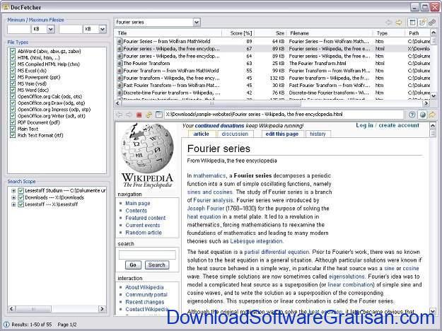 Aplikasi Pencari File Terbaik DocFetcher
