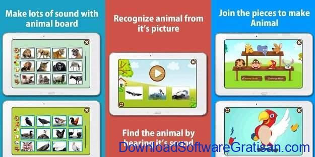 Aplikasi Pendidikan Anak Gratis Terbaik untuk Android Kids Zoo Animal Sounds & Photos