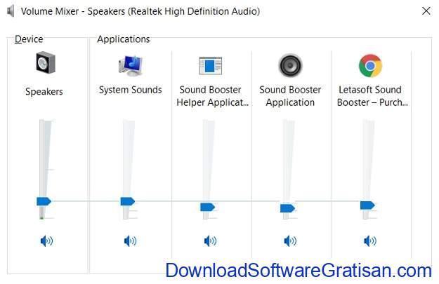 Aplikasi Pengeras Suara PC Sound Booster