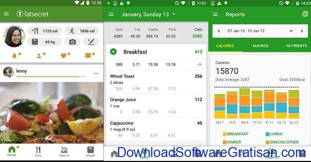Aplikasi Penghitung Kalori Terbaik - FatSecret