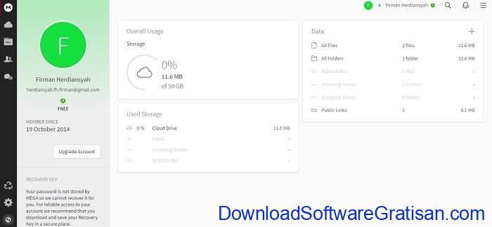 Aplikasi Penyimpanan Cloud 50 Gb Gratis dari Mega