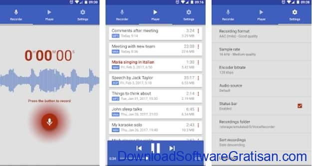 Aplikasi Perekam Panggilan Terbaik - Voice Recorder by Splend Apps