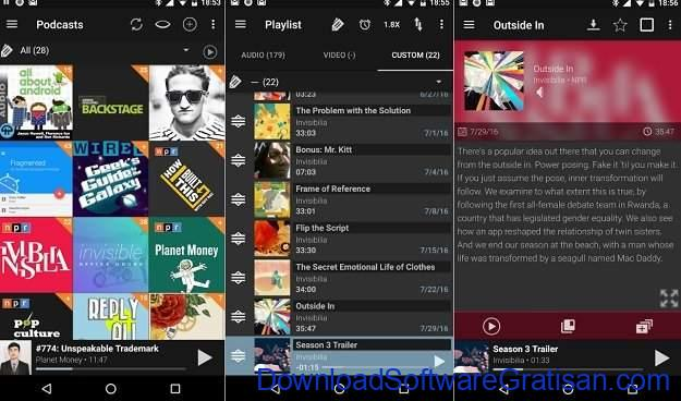 Aplikasi Podcast Android Gratis Terbaik Podcast Addict