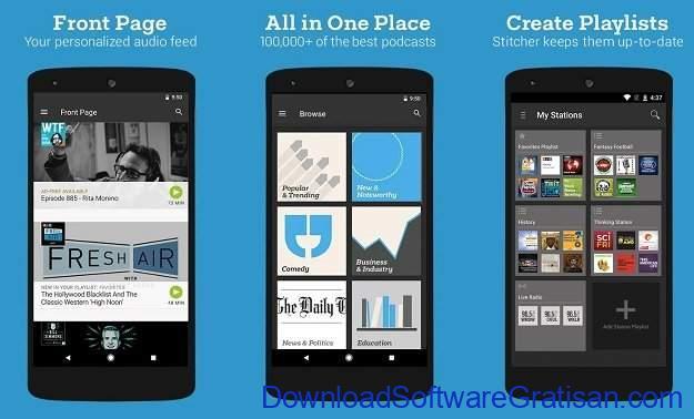Aplikasi Podcast Android Gratis Terbaik Stitcher Radio