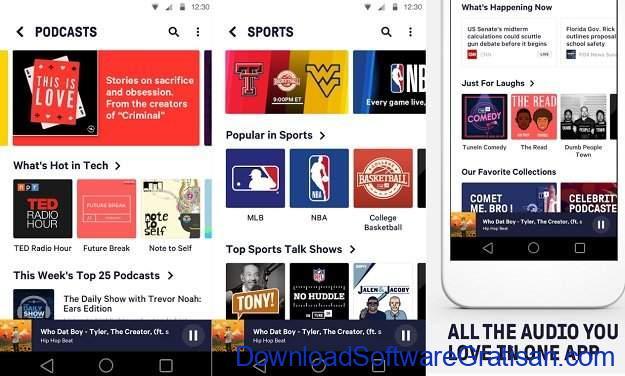 Aplikasi Podcast Android Gratis TuneIn Radio