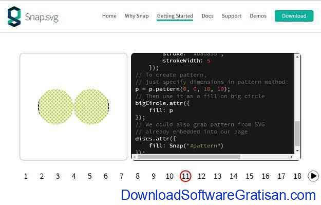 Aplikasi SVG Gratis untuk Desainer Grafis & Web Snapsvg