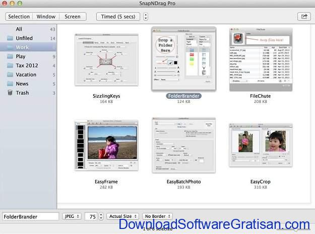 Aplikasi Screenshot Terbaik untuk Mac SnapNDrag