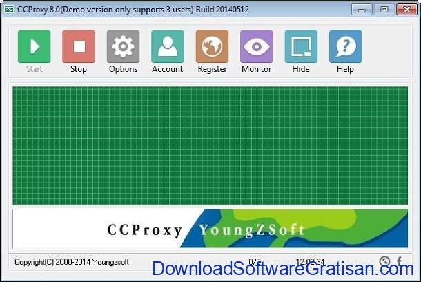 Aplikasi Server Proxy untuk Share koneksi Internet CCProxy