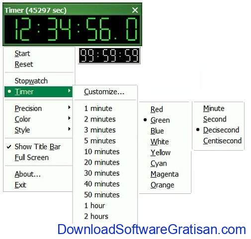 Aplikasi Stopwatch atau Timer Gratis Terbaik LYZ Stopwatch  Timer
