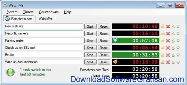 Aplikasi Stopwatch atau Timer Gratis Terbaik WatchMe