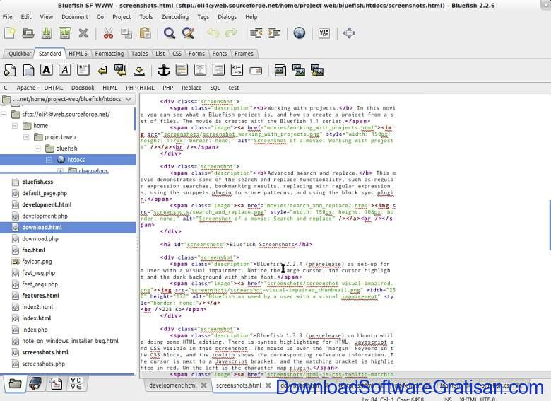 Aplikasi Teks Editor Terbaik PC Laptop - BlueFish