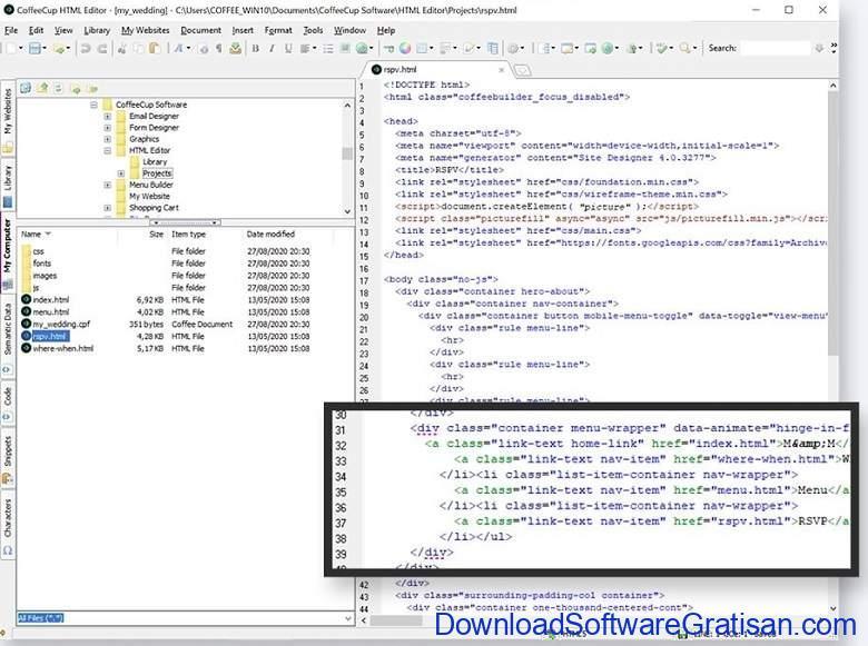 Aplikasi Teks Editor Terbaik PC Laptop - CoffeeCup – The HTML Editor