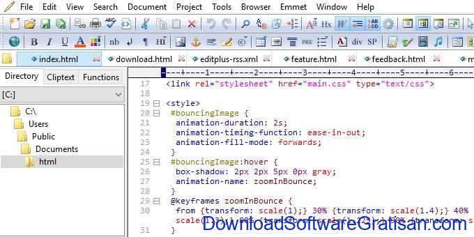 Aplikasi Teks Editor Terbaik PC Laptop - Edit+