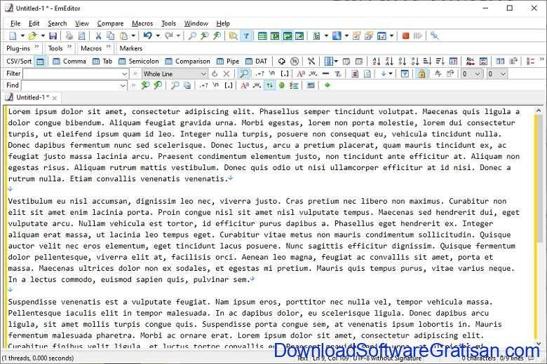 Aplikasi Teks Editor Terbaik PC Laptop - EmEditor