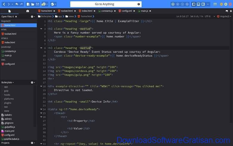 Aplikasi Teks Editor Terbaik PC Laptop - Komodo Edit