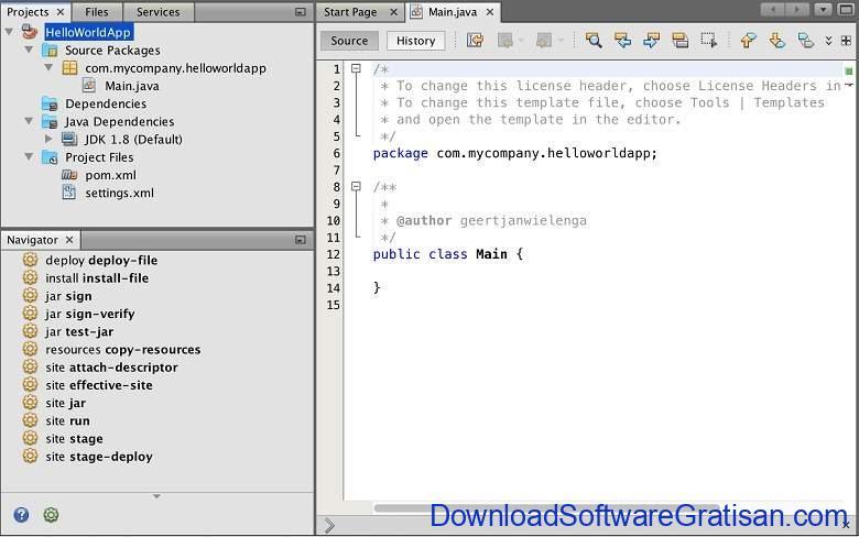 Aplikasi Teks Editor Terbaik PC Laptop - NetBeans