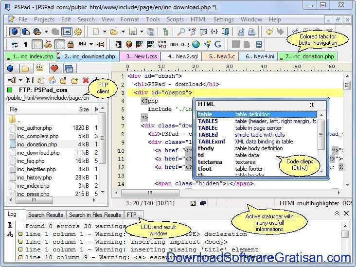 Aplikasi Teks Editor Terbaik PC Laptop - PSPad