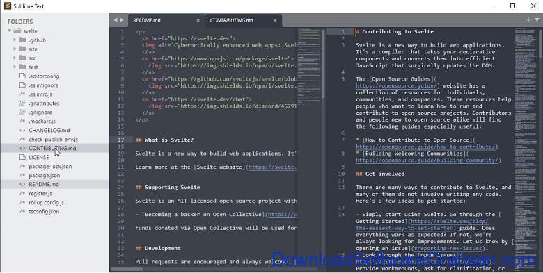 Aplikasi Teks Editor Terbaik PC Laptop - Sublime Text
