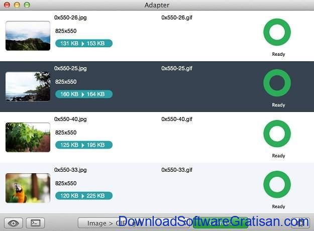 Aplikasi pengubah format foto Adapter