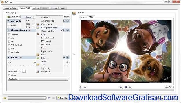 Aplikasi pengubah format foto XnConvert