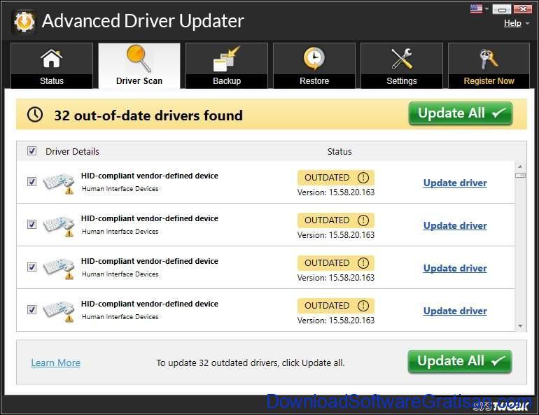 Aplikasi Update Driver PC Laptop Gratis Terbaik - DownloadSoftwareGratisanCom - Advanced Driver Updater