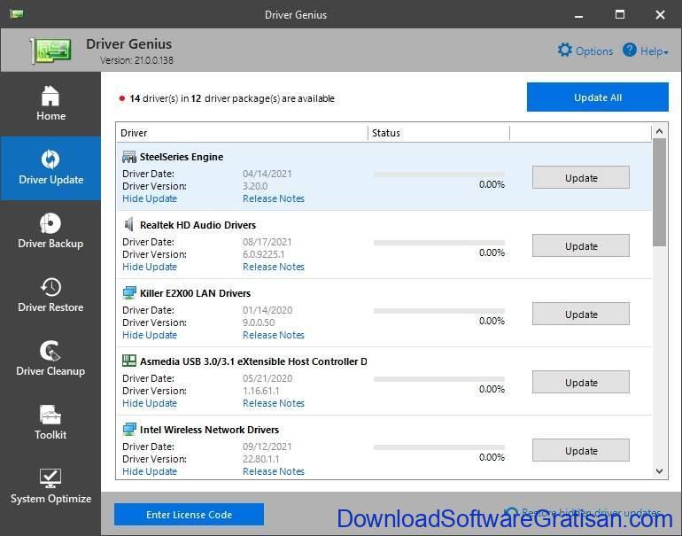 Aplikasi Update Driver PC Laptop Gratis Terbaik - DownloadSoftwareGratisanCom - Driver Genius