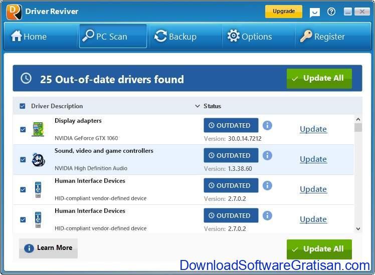 Aplikasi Update Driver PC Laptop Gratis Terbaik - DownloadSoftwareGratisanCom - Driver Reviver