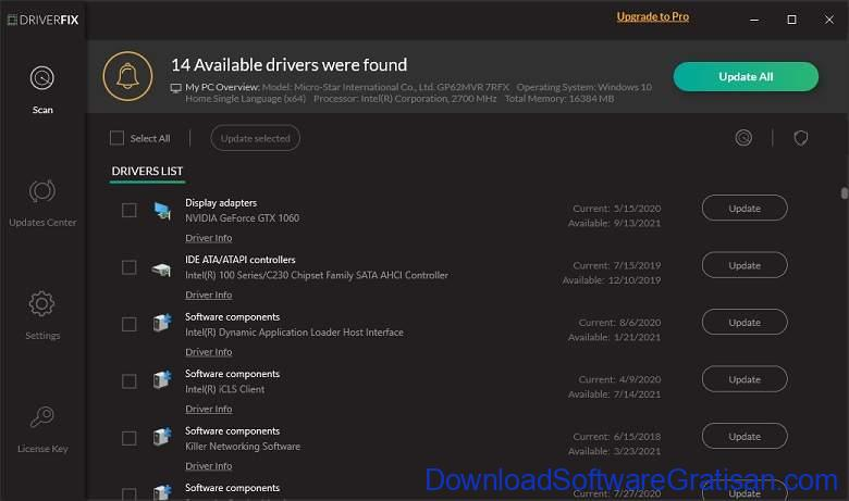Aplikasi Update Driver PC Laptop Gratis Terbaik - DownloadSoftwareGratisanCom - DriverFix