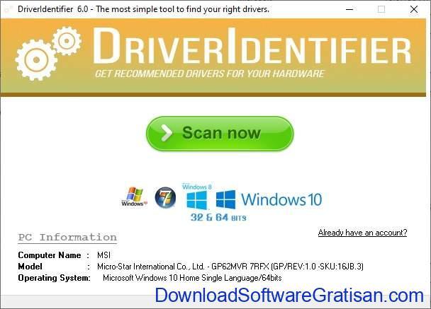 Aplikasi Update Driver PC Laptop Gratis Terbaik - DownloadSoftwareGratisanCom - DriverIdentifier