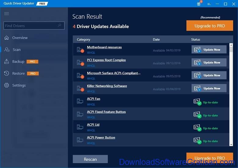 Aplikasi Update Driver PC Laptop Gratis Terbaik - DownloadSoftwareGratisanCom - Quick Driver Updater