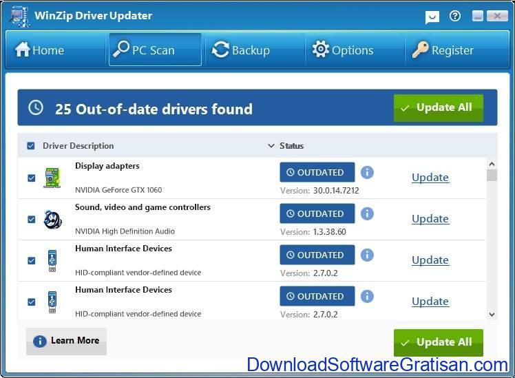 Aplikasi Update Driver PC Laptop Gratis Terbaik - DownloadSoftwareGratisanCom - WinZip Driver Updater
