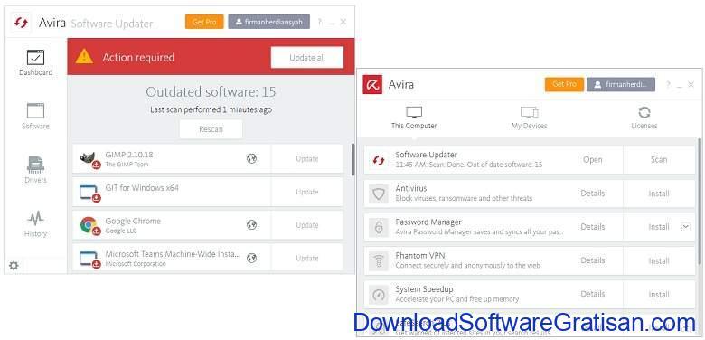 Aplikasi Update Software PC Laptop Gratis Terbaik - DownloadSoftwareGratisanCom - Avira Software Updater