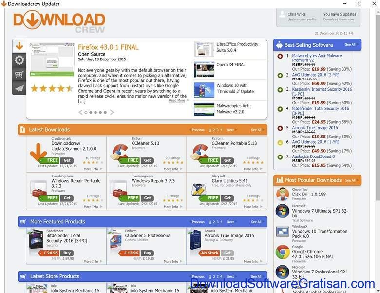 Aplikasi Update Software PC Laptop Gratis Terbaik - DownloadSoftwareGratisanCom - Download Crew UpdateScanner