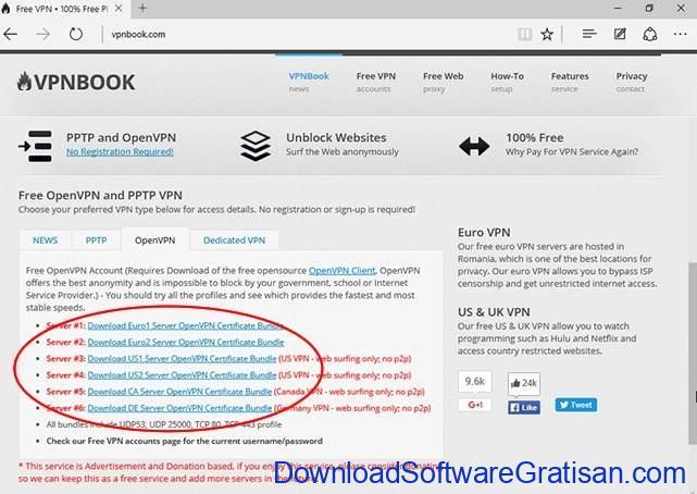 Aplikasi VPN Gratis Terbaik untuk PC VPNBook