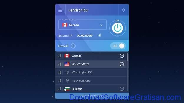Aplikasi VPN Gratis Terbaik untuk PC Windscribe