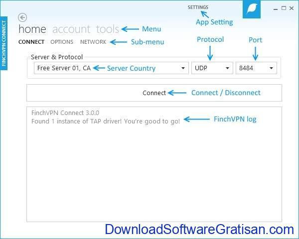 Aplikasi VPN Terbaik untuk PC FinchVPN