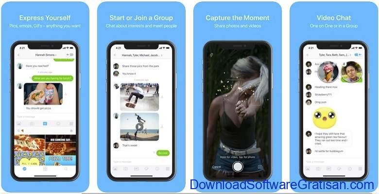Aplikasi Video Call Gratis Terbaik - Kik