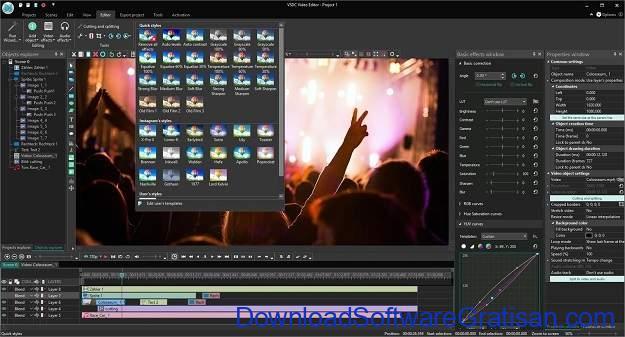 Aplikasi Video Maker Terbaik Untuk Windows 10 - VSDC Video Editor