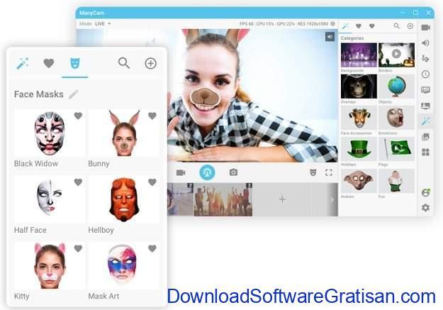 Aplikasi Webcam Terbaik untuk PC atau Laptop ManyCam