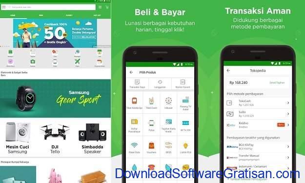 Aplikasi android Tokopedia