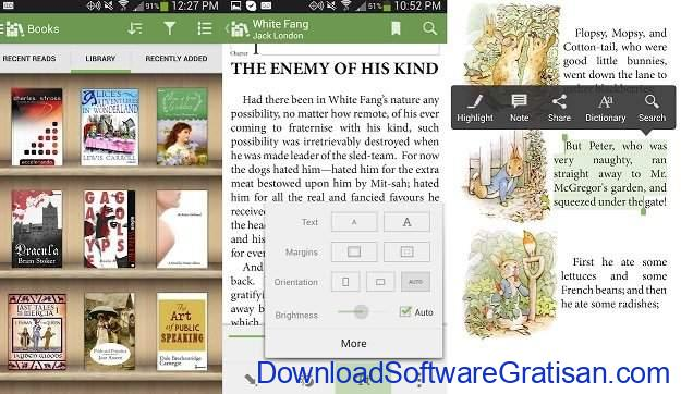 Aplikasi eBook Reader Android Aldiko Book Reader