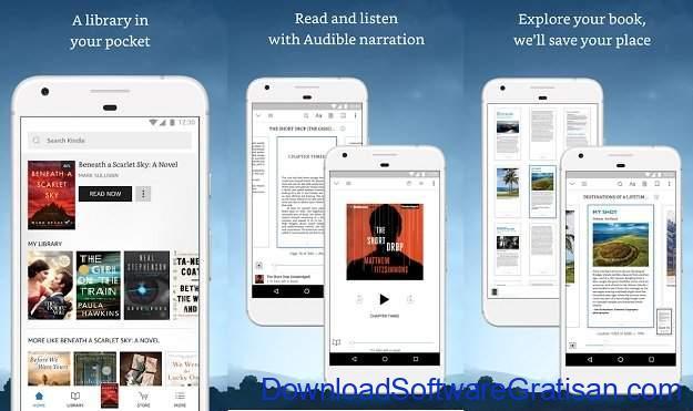 Aplikasi eBook Reader Android Amazon Kindle